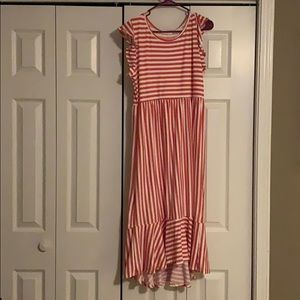 White and pink striped dress!:)